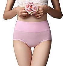 Scrox Ropa Interior Femenina Mediados De Cintura Calzoncillos (Rosa) M