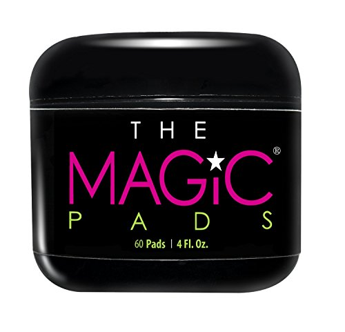 THE MAGIC PADS with Glycolic Acid. Gentle Daily Exfoliating Pads for the treatment of Acne, Blemishes & unnecessary signs of Aging. An All-in-One Skincare Treatment for Flawless Skin. 60 Pads per Jar.