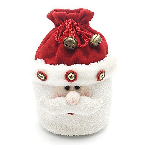(rainbabe chirtmas Santa Claus Reinigungstuch Candy Weihnachtsstrumpf Apple Beutel Karton Party Decor 1)