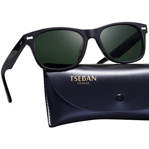 TSEBAN Retro Polarisierte Damen Sonnenbrille 100% UV400 Schutz Fahren Outdoor Brille Acetat Rahmen