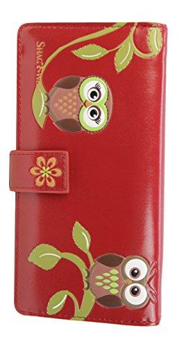 shagwear-junge-damen-geldborse-large-purse-verschiedene-farben-und-designs-eulen-rot-bentley-owls