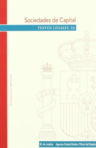 Sociedades de Capital (Textos Legales) por VARIOS AUTORES