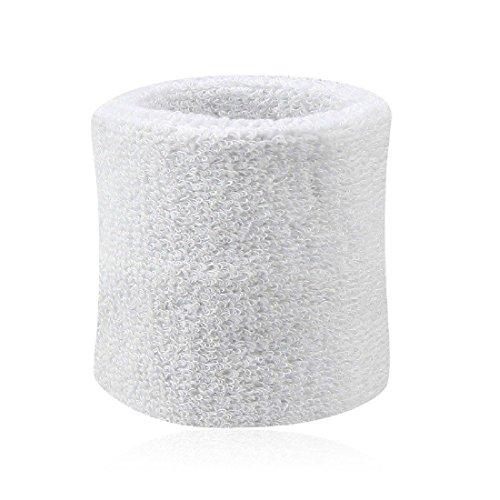 8cm*7.5cm Bracelet/Bandeau/Poignet de Sport éponge?coton blanc