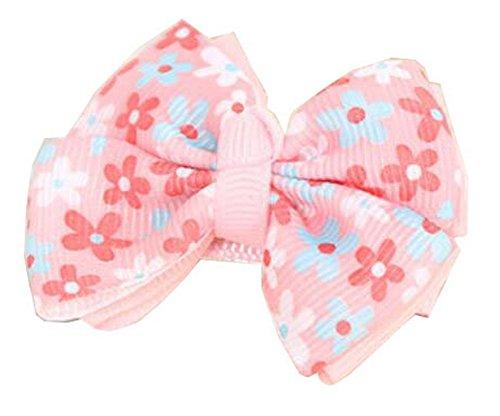 floraux barettes cheveux bowknot pour les filles de bébé, 10PC, rose