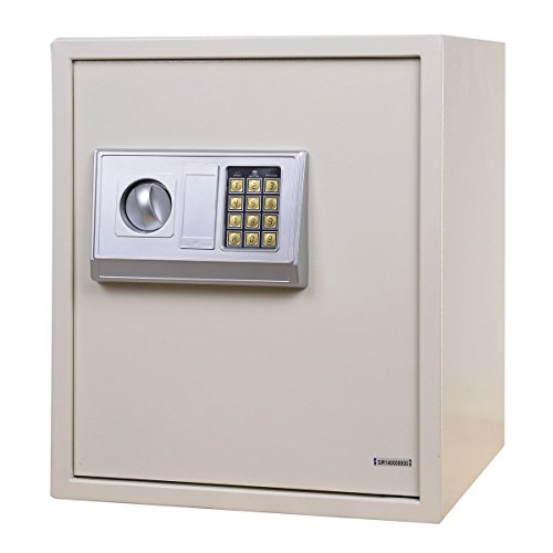 Cheapest FDS Digital Electronic Safe Box Money Cash Security Safe Cabinet Shop Home Office (White) Review