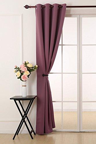 Deconovo tende da sole oscuranti tende moderne per la tua casa 100% poliestere 132x241 cm incarnato prugna