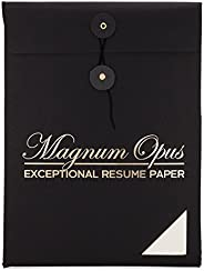 Magnum Opus Resume Paper - 50 sheets | Exceptional white ivory 28 lb NO WATERMARK 8.5x11 | Ideal stationery fo