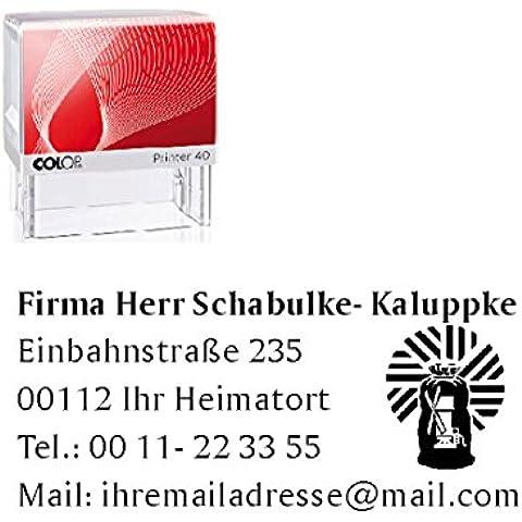 Sello Empresas Sellos « Müller » sello automático con diseño–Harina moler Molino de viento Alimentos