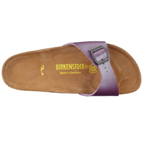 Birkenstock - pantoufle Madrid de Birko-Flor en Perle de Glace Améthyste Violet (Ice Pearl Améthyste)