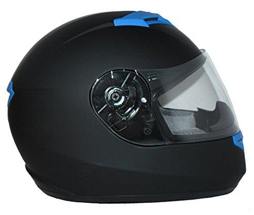 Protectwear Motorradhelm V121-BL schwarz-blau matt - M - 6