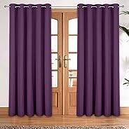 Story at Home DBK5010 Blackout Curtain, Silk, Purple, 118cm x 152cm