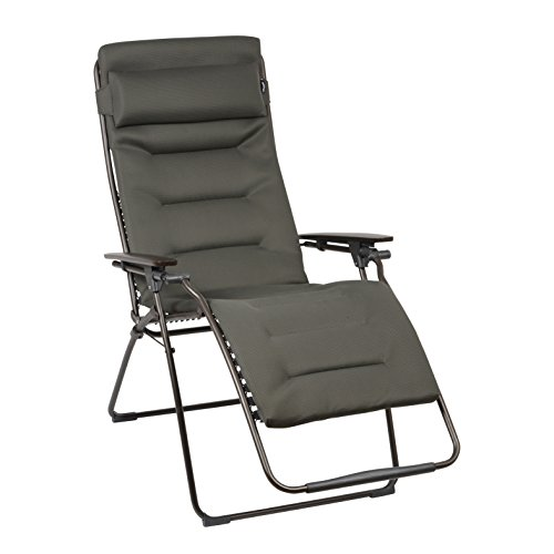 Preisvergleich Produktbild Lafuma Relax-Liegestuhl,  Klappbar,  Stufenlose Verstellung,  Stahlkonstruktion,  Air Comfort,  Futura,  taupe