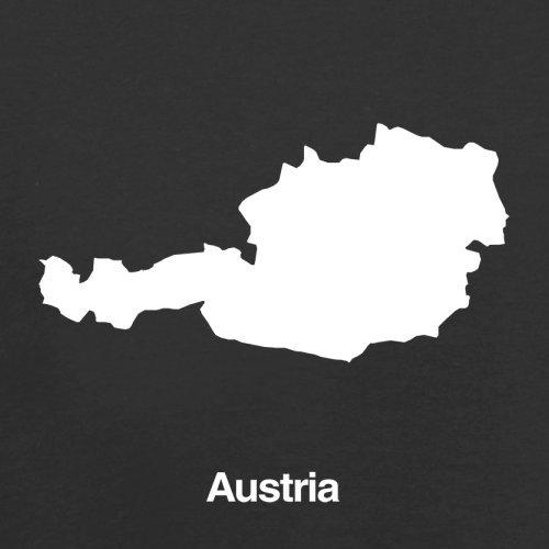 Austria / Österreich Silhouette - Herren T-Shirt - 13 Farben Schwarz