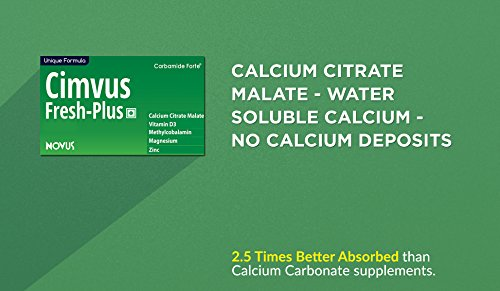 Carbamide Forte Cimvus Fresh-Plus Easily Absorbed Calcium + Extra Vitamin D3 And Vitamin B12 - 100 Veg Tablets
