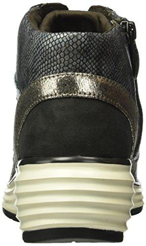 Tamaris 25826, Sneakers Hautes Femme Multicolore (Denim Str.Comb 809)