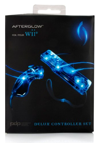 Preisvergleich Produktbild [Import Anglais]PDP Afterglow AW.1 and AW.2 Remote and Nunchuk Twin Pack Blue