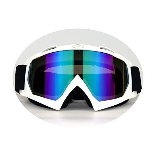 Daesar Schneebrille Damen Herren Unisex Schutzbrille Winddicht Sport Brille Winddicht Weiß Bunten