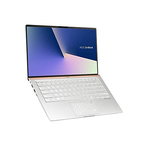 ASUS ZenBook 14 UX433FA (90NB0JR4-M04270) 35,5 cm (14 Zoll, FHD, WV, Matt) Ultrabook (Intel Core i5-8265U, 8GB RAM, 256GB SSD, Intel UHD-Grafik 620, Windows 10) Icicle Silver Asus Quad Core Laptop