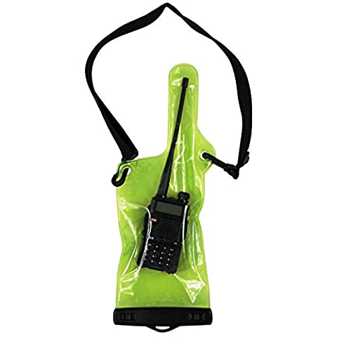 KEESIN Universal Transparent Waterproof Rainproof Case Bag Cover Pouch Holder Pouch Bag Case For Motorola Kenwood Midland UV-3R UV-5R Walkie talkie two way CB Ham Radio (Green)