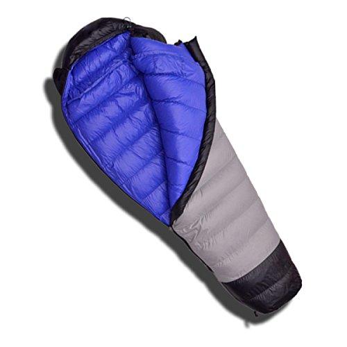Sac De Couchage 1000G 1200G Sac De Couchage Momie Sac De Couchage De Camping En Plein Air Sac De Couchage Adulte Chaleur Confortable Alpinisme Tapis De Couchage,OutsideAshBlue-1000g