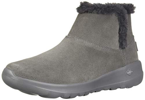 5-meter-bundle (Skechers Damen On-The-go Joy - Bundle Up Kurzschaft Stiefel, (Suede Charcoal), 2 EU)