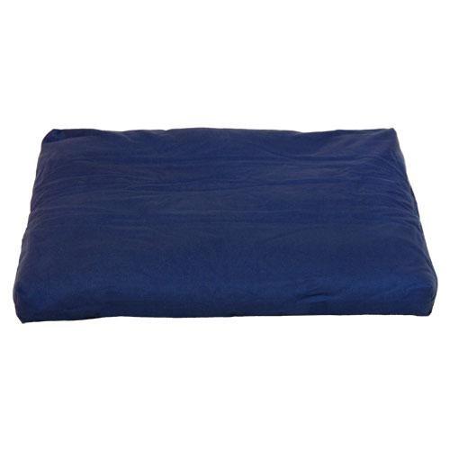 Coussin de méditation Zabuton BASIC 80x80cm, noyau constitué de plusieurs couches de coton non-tissé, housse amovible lavable à 40°C, sangle de transport, Zabuton disponible en différentes couleurs (bleu foncé)