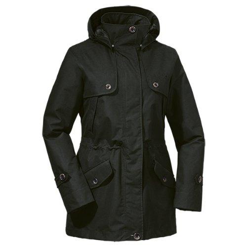 Jack Wolfskin Damen Mantel Queenstown Coat Women, Black, L, 1104981-6000004