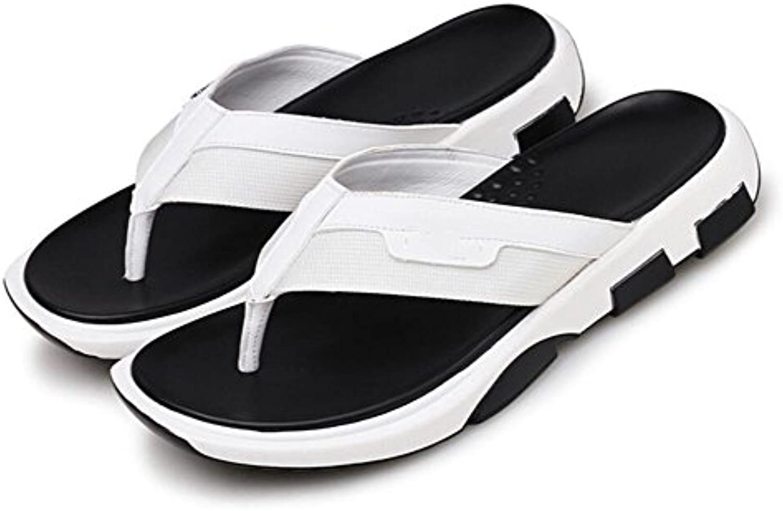 MHGAO 2017 paño Splicing Clip Puntera Flip Flats Simple verano sandalias antideslizantes sandalias Casual Zapatos