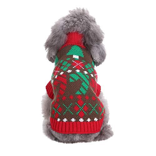 Amphia - Weihnachtshaustier Hund Rollkragenpullover,Weihnachten Haustier Hund Katze Winter Warm Turtle Neck Sweater Coat Costume Apparel Turtle Fur Fleece Neck
