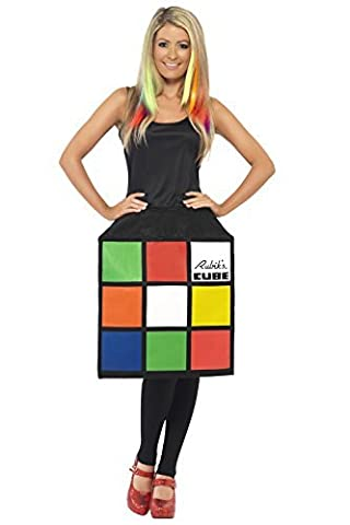 Film & TV Femmes Sous licence Déguisement Rubiks 3D Cube Costume Complet Tenue - Multi, Small