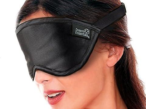 Dream Essentials Masque Masque de sommeil en soie® Doux–Super Premium Noir