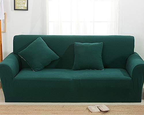 TSSCY Sofa Überwurf Anti-rutsch,Couch-Decken Stretch hussen Stuhl beschützer Sofa wirft Möbel Sessel Loveseat Sofa wirft Anti-mite Polyester-dunkelgrün 2 Sitzer - Hussen Sessel Stühle