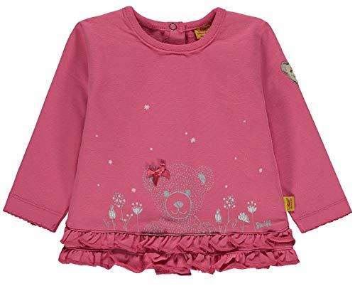 Steiff Baby Sweatshirt Mäd.Bär Rüschen Größe: 86 Farbe: pink Bär Sweatshirt