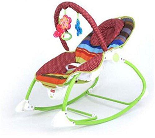 NWYJR Baby Wippe einstellbar Neugeborenen Vibration bequem elektrische Multifunktions faltbare Musik Swing Bouncer , coffee (Bouncer Faltbar)