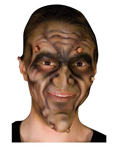 Horror-Shop Hexen Warzen aus Latex 3 St. Faschings Make-up Zubehör für Halloween