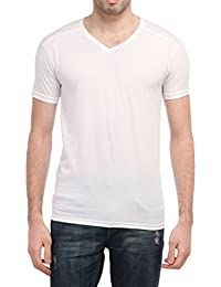 Tees Collection Men's V-neck Cotton Half Sleeves T-shirt_TCBV002