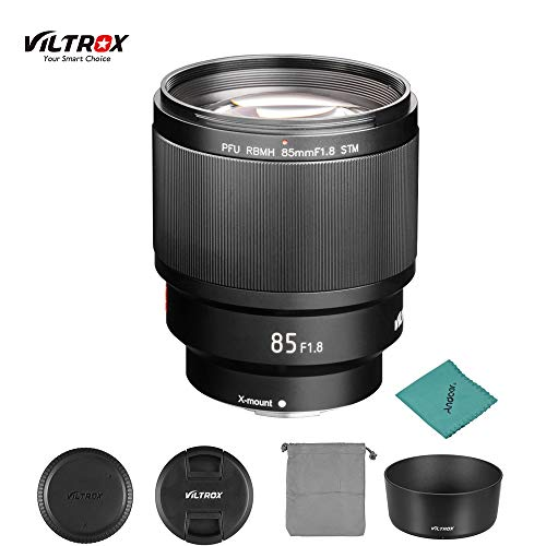 VILTROX PFU RBMH 85 mm F1.8 STM (X-Mount) AF Autofokus Standardobjektiv APS-C-Rahmen für Fujifilm X-Mount X-H1 X-Pro X-T3 X-T2 X-T30 X-T20 E3 X-T100 X-A5 Kamera