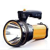 ALFLASH LED Taschenlampe Taktische Taschenlampe Outdoor Handlampe 7000 Lumen Wasserfest IPX4 Super hell USB Wiederaufladbar Taschenlampe,9000Mah(Gold)