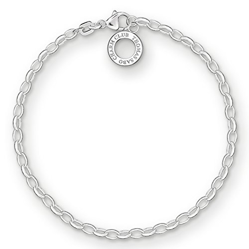 Thomas Sabo Women-Charm Bracelet Charm Club 925 Sterling Silver Length 18.5 cm X0163-001-12-L