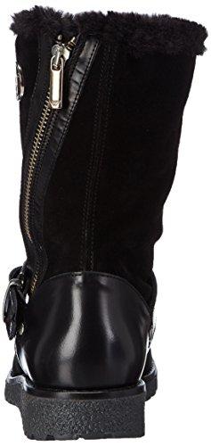 Armani Jeans B55B331 Damen Biker Boots Schwarz (NERO - BLACK)
