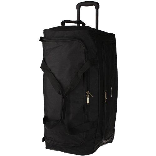 Eurotravel Reisetasche mit Rollen 66 cm (black) black