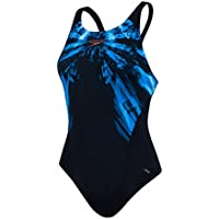 Speedo FreezeFrost Placement Recordbreaker Bañador, Mujer, Negro/Turquesa / Blanco, 36