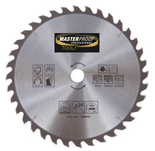 MASTERP Kreissägeblatt 350mm, 36 spezial gehärtete Zähne, für Holz, Handkreis und Tischkreissägen