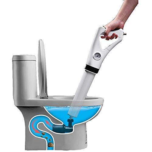 Madoo Air Drain Blaster, Toilettenpfanne Blaster Pipe Toilette Plunger Combo Set Hochvorsorge-Drain Opener Für Toilettenbad Mit Pumpe -