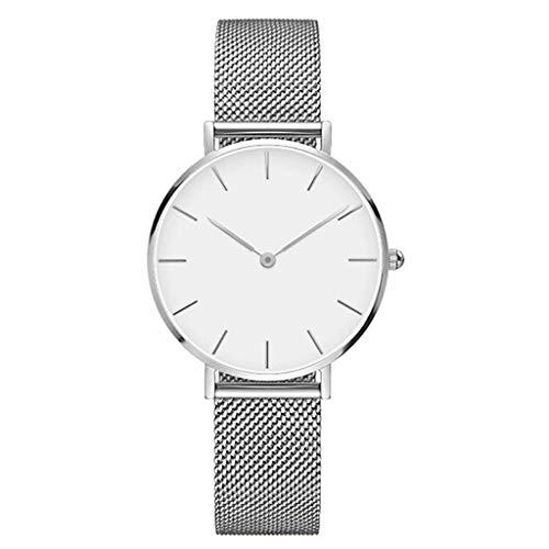 Neuer Trend  Damen Klassisch Uhren Analog Quarz Edelstahl Mesh Armband Ultradünne Uhren, Frauen Mode Mesh Damenuhr Analoge Quarz-weibliche Armbanduhr Geschenk LEEDY