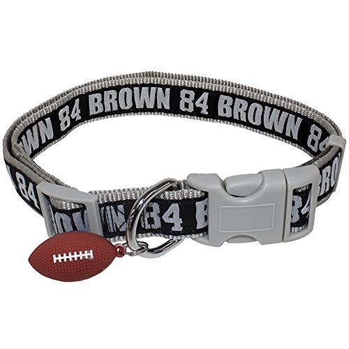 halsband für Hunde und Katzen. Die größte Auswahl an Sport-Fußball-Kleidungen und Zubehör, lizenziert von NFLPA. 12 + NFL TEAMS erhältlich., Dog Collar, Large, Antonio Brown ()