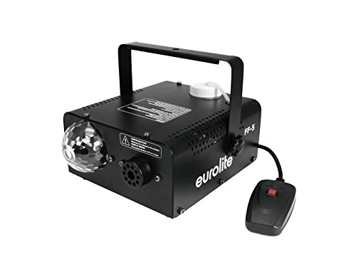 Eurolite LED FF-5 Hybrid Fog Flower | 450-Watt-Nebelmaschine und Lichteffekt in einem Gehäuse | Perfektes Kombigerät um Stimmung auf die Party zu bringen | Ideal für Party-Räume und kleine Diskotheken
