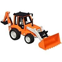 Driven WH1009Z Micro Mini Backhoe Loader Model Vehicle, Multi-Colour