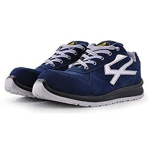 41H7ELCSE4L. SS300  - Zapatos de Seguridad para Hombres con Puntera de Fibra de Vidrio - SAFETOE 7328 Zapatillas Ultra-Ligeras Azul