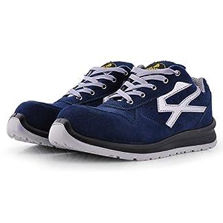 Zapatos de Seguridad para Hombres con Puntera de Fibra de Vidrio – SAFETOE 7328 Zapatillas Ultra-Ligeras Azul